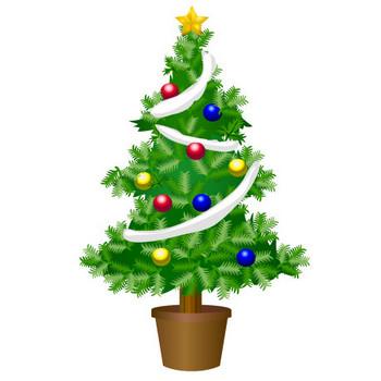クリスマスツリーの無料イラスト素材|イラストイメージ