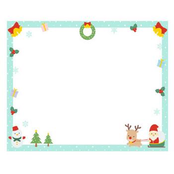 【12月/冬のイラスト】クリスマスのフレーム飾り枠イラスト(サンタ/トナカイ/ツリー/リース/雪だるま/プレゼント/柊) | 無料フリーイラスト素材集【Frame illust】