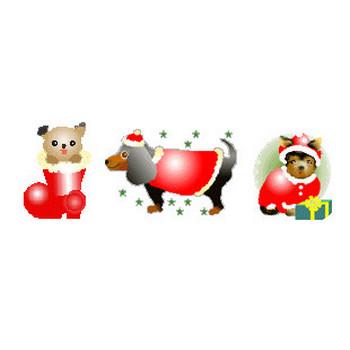 クリスマスイラスト背景素材アイコン・素材屋じゅん・フリー素材・サンタクロース・アニメ・画像絵