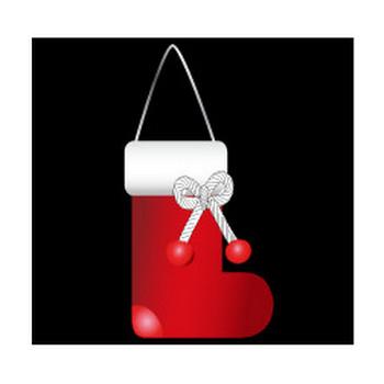 無料|WEB素材|イラスト|クリスマス/ソックス