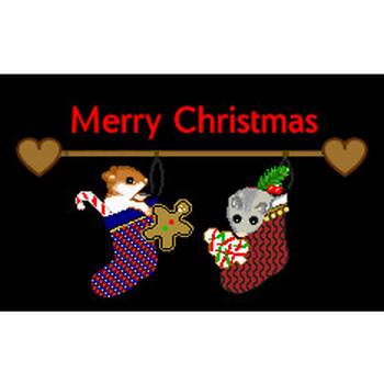 クリスマス無料イラスト素材・うさぎのクリスマス