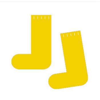 靴下(黄色)のシンプルイラスト <無料> | イラストK