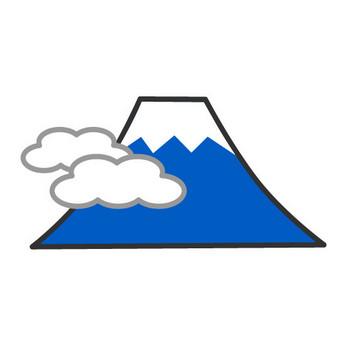 ポップな富士山マークの無料イラスト素材|イラストイメージ
