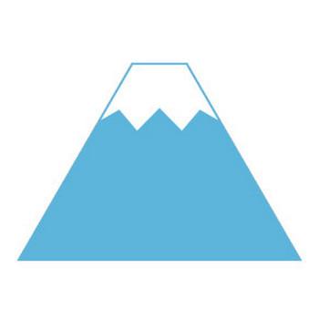 富士山のシンプルイラスト <無料> | イラストK