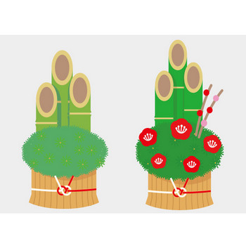 門松のフリーイラスト – クリスマス・ハロウィン、お正月イラストEVENTs Design