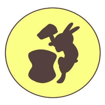 餅つきウサギのイラスト | かわいいフリー素材が無料のイラストレイン