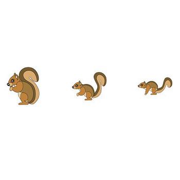 イラストポップ | (旧)動物イラスト-リスのフリー素材