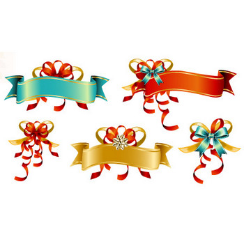 Free Vector Bow Ribbon Banners | Free Resource for Designers
