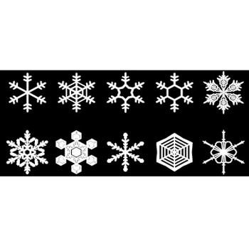 雪の結晶素材 | シルエットデザイン
