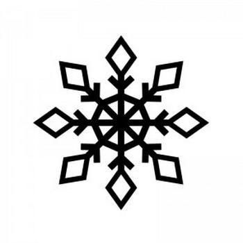 雪の結晶のシルエット05 | 無料のAi・PNG白黒シルエットイラスト