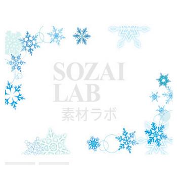 雪の結晶フレーム3 | 無料イラスト素材|素材ラボ