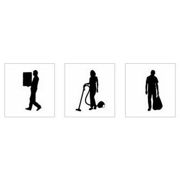 大掃除|シルエット イラストの無料ダウンロードサイト「シルエットAC」