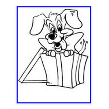 Christmas Animals Coloring Pages