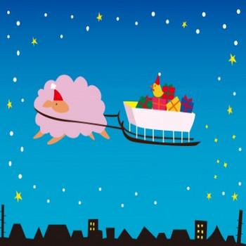 ひつじとクリスマスの壁紙イラスト - 無料イラストのIMT 商用OK、加工OK
