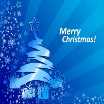 抽象的な青いクリスマス背景ベクトル イラスト-ベクトルの要約-無料ベクトル 無料でダウンロード