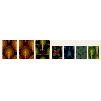 テーマ・季節(四季)「クリスマス 背景」フリー素材|はんこ素材【和風素材.jp】
