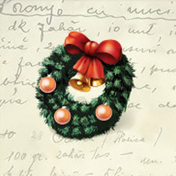 Christmas Wreath Icon - Easy New Year Icons - SoftIcons.com