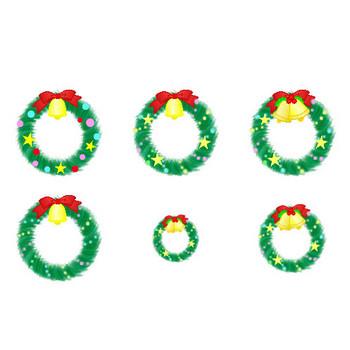クリスマスの素材【クリスマスリース】アイコン・イラスト フリー素材