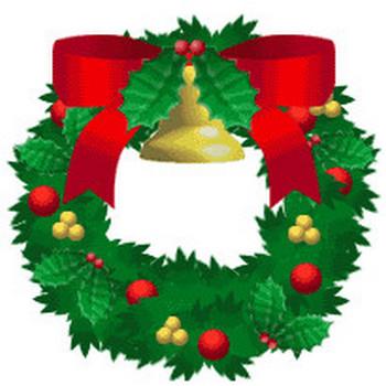 クリスマス、お正月、冬・季節素材の無料ダウンロード~ベル&ひいらぎのクリスマスリース(アイコン、イラストカット)★Cafepuff Design 無料素材配布所★加工、商用サイト利用可