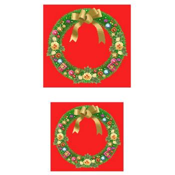 クリスマス/リース1/素材6/無料/季節のクリップアート/イラスト素材