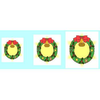 クリスマスリース2/クリップアート(web用イラスト素材)/クリスマス素材サンタ館