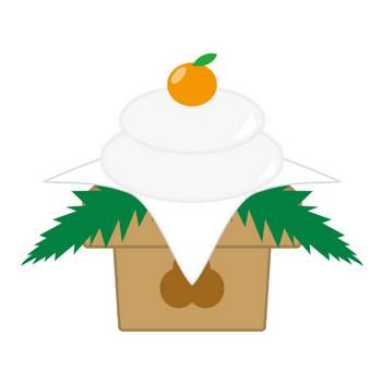 [無料イラスト] 鏡餅 - パブリックドメインQ:著作権フリー画像素材集