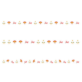 鏡餅と扇子と梅のお正月の罫線イラスト | 無料の線・ライン素材 飾り罫線イラスト.com