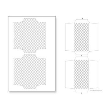 ニャログ :ぽち袋・お年玉袋のペーパークラフトの型紙 (千代紙&ハートキャッチプリキュア) (スポンサー広告画像編集など)