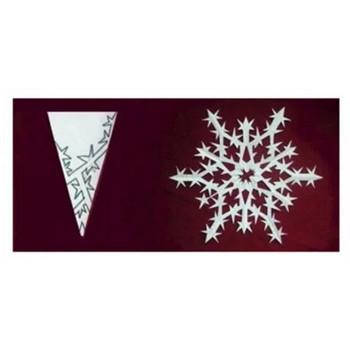 クリスマスを雪の結晶でデコレート!切り紙パターン46
