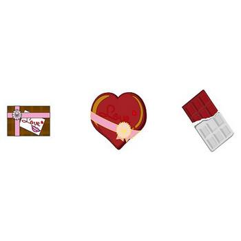 イラストポップ | 季節のイラスト冬-2月の無料素材-バレンタインデー・チョコレート