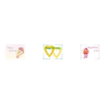 誕生日カード-イラストポップ