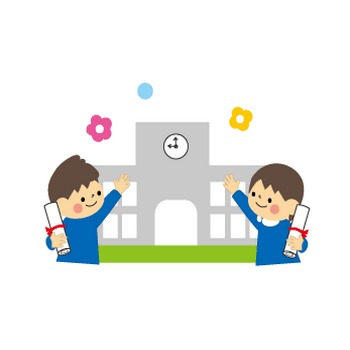 卒業式のイラスト(学校)無料イラスト/フリー素材2
