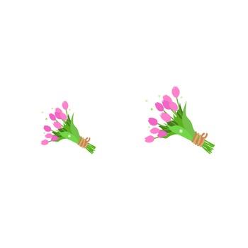 無料イラスト フリー素材 / チューリップ 花