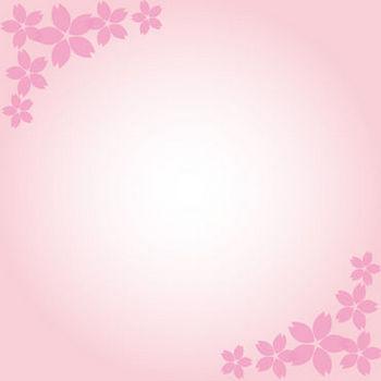 桜模様の枠フレームイラスト