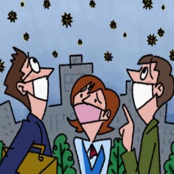 花粉対策、インフルエンザ対策、無料イラスト、フリー素材です♪ ハギーの絵日記/ウェブリブログ
