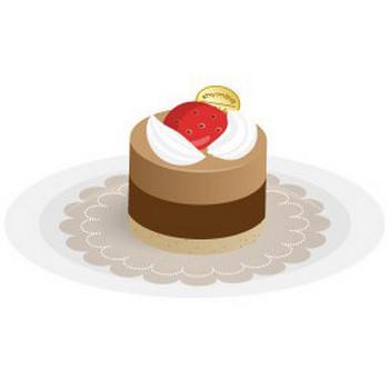 チョコレートムース - フリーイラスト素材 「趣味で作ったイラストを配るサイト」