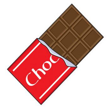 板チョコレート【無料イラスト・フリー素材】