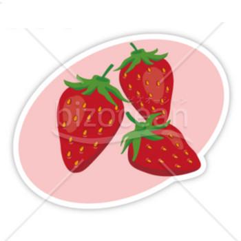 イチゴのイラスト|テンプレートのダウンロードは【書式の王様】