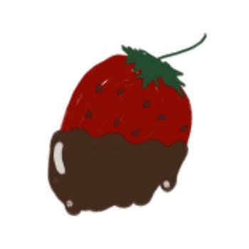 チョコがけイチゴのイラスト。ガーリーな素材。 | tigpig | AWRD アワード