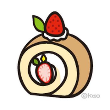 3月イラスト#195|ロールケーキ苺ホイップ【イラスト】 | 無料で使えるイラスト素材|イラストボイス - 楽天ブログ