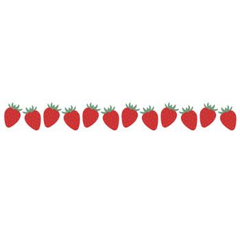 [果物・フルーツ]苺(いちご・ストロベリー)のライン飾り罫線イラスト | 無料フリーイラスト素材集【Frame illust】