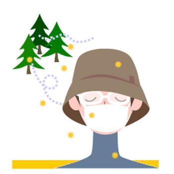 山田聖子のイラストブログ |花粉症の男性 人物イラスト無料素材