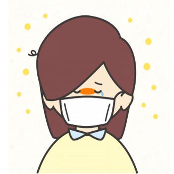 花粉症の女の子 | フリーイラスト素材のぴくらいく|商用利用可能です