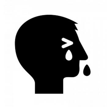 花粉症のシルエット | 無料のAi・PNG白黒シルエットイラスト