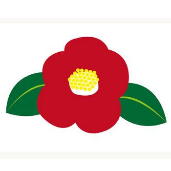 冬の花★赤椿と白椿イラスト | 無料イラスト配布サイトマンガトップ