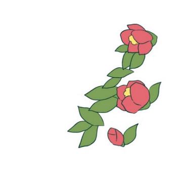 椿の花のイラスト - 無料イラストのIMT 商用OK、加工OK