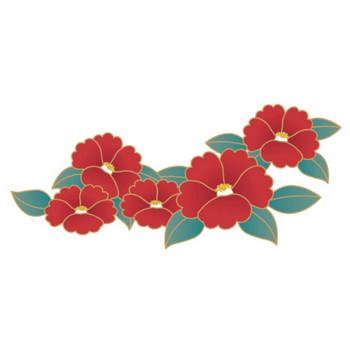 「レトロな椿の花」 - 無料イラスト愛