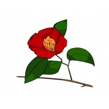 真っ赤な椿のイラスト | イラスト無料・かわいいテンプレート
