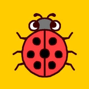 テントウムシ・てんとうむし(カラー)/虫・昆虫の無料イラスト/ミニカット・クリップアート素材