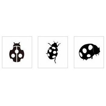 てんとう虫|シルエット イラストの無料ダウンロードサイト「シルエットAC」